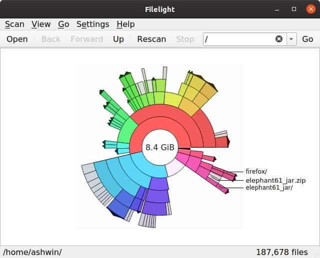 Filelight linux version