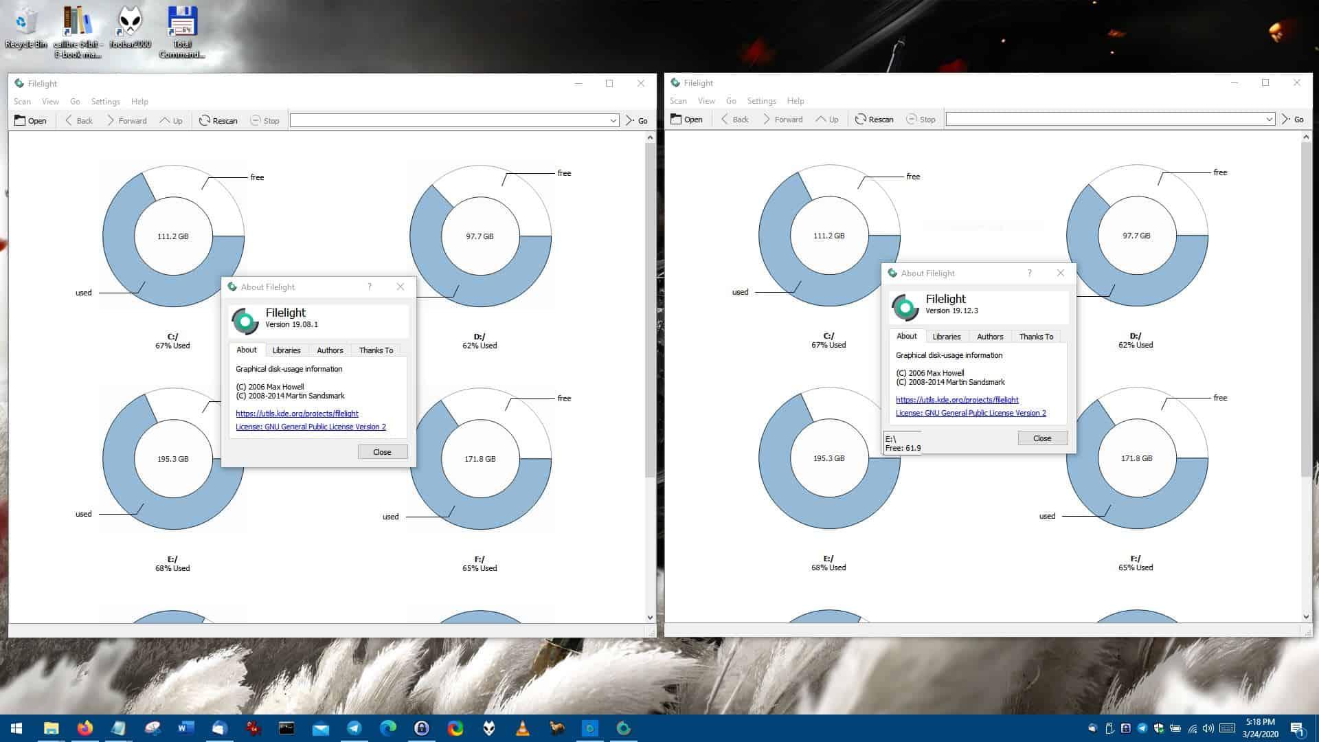 Filelight windows store and standalone program