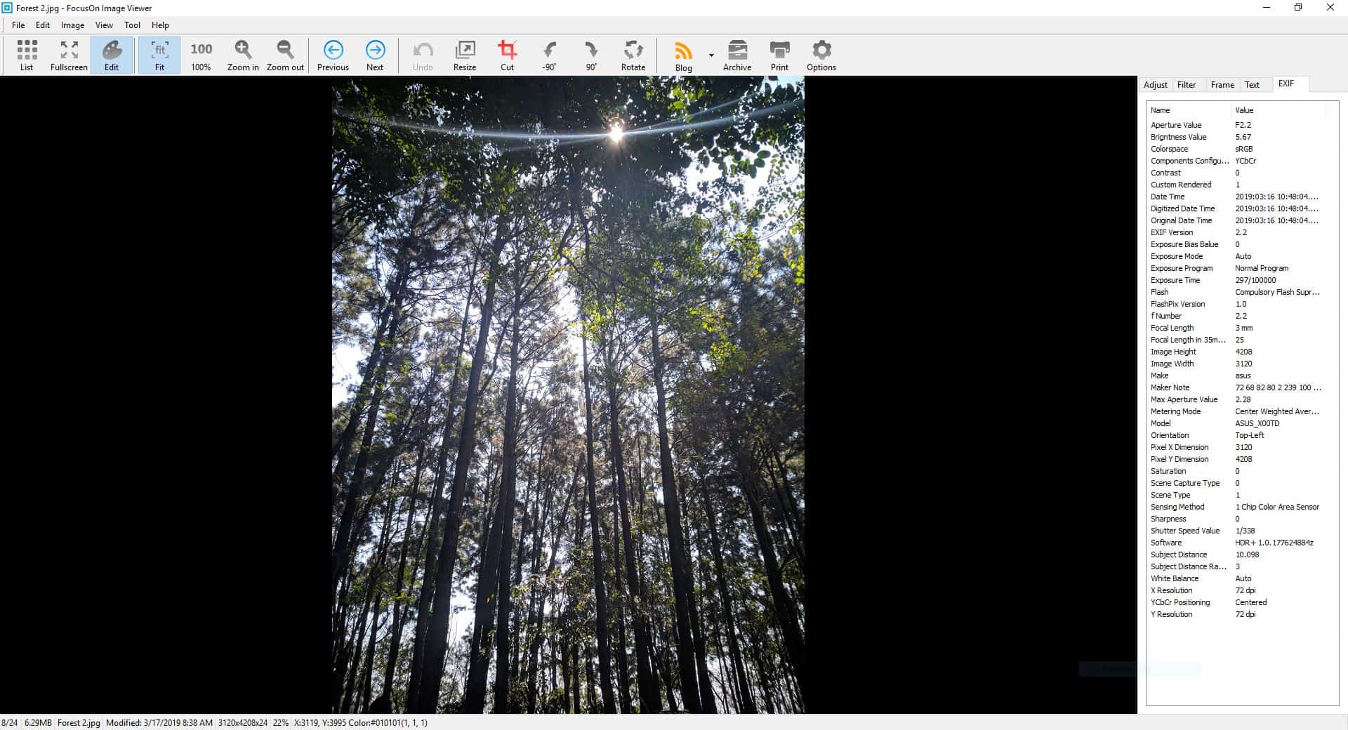 FocusOn Image Viewer editor