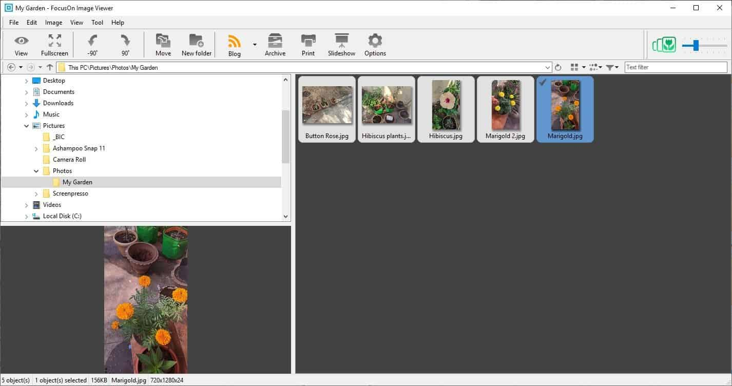 FocusOn Image Viewer preview