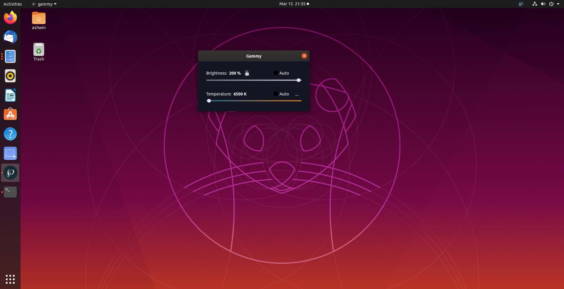 Gammy Linux 200 percent