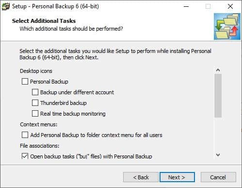 Personal Backup installer