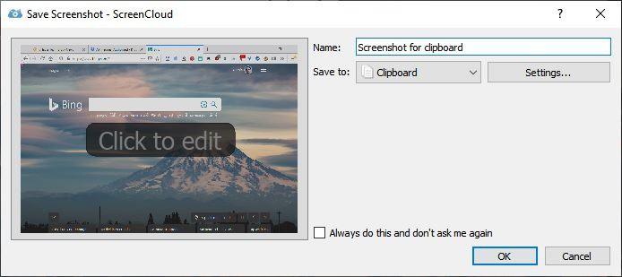 ScreenCloud save screenshot 2