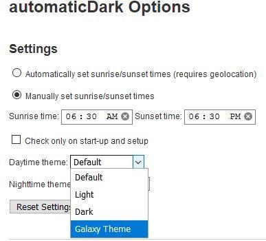 automaticDark Firefox custom theme