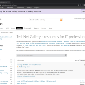 microsoft technet gallery retire