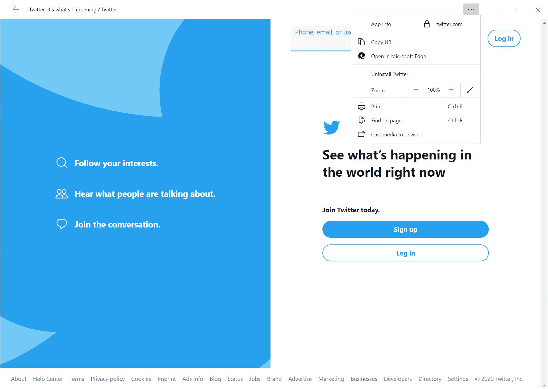 progressive web app uninstall