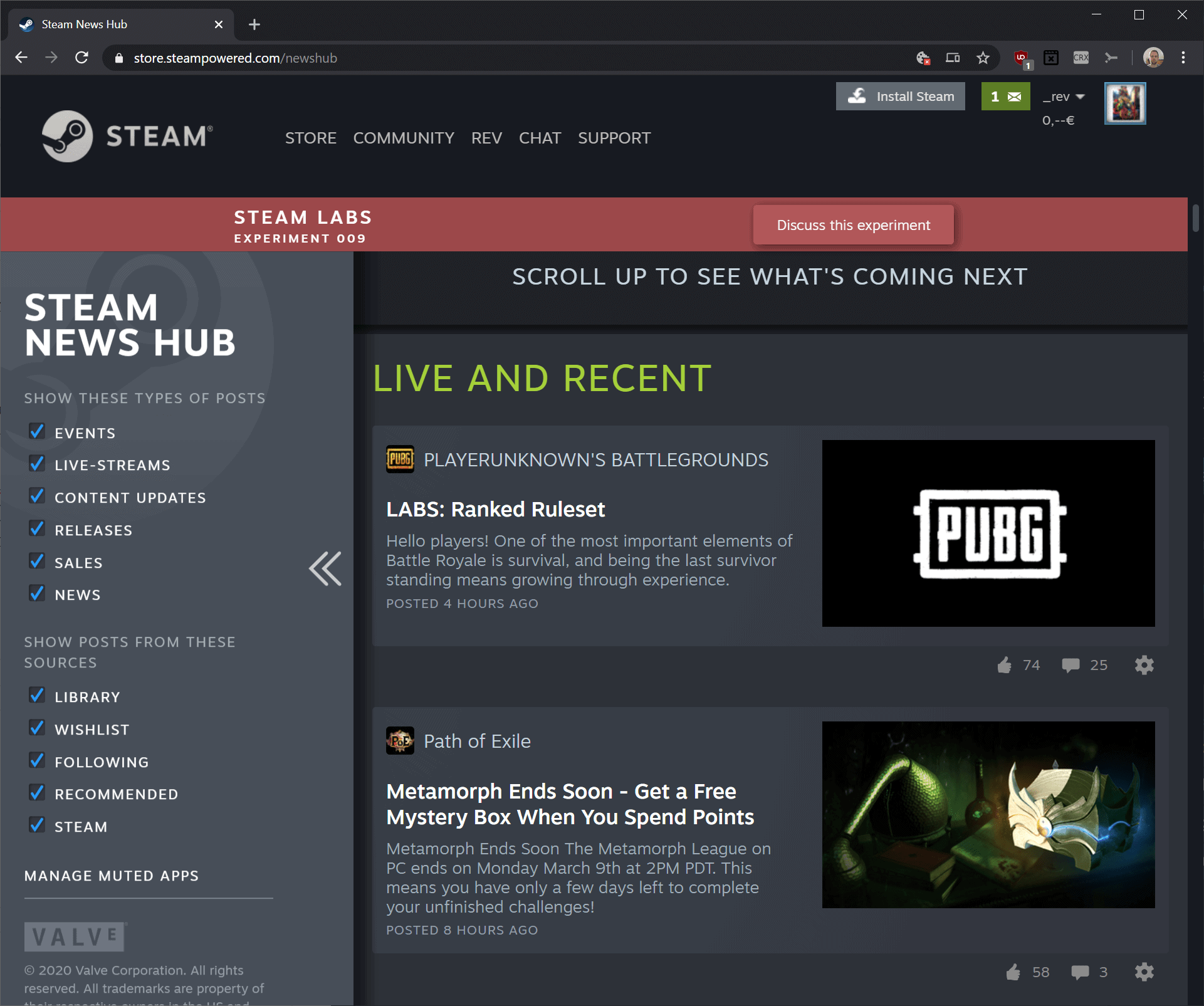 Steam News Hub offers personalized game news