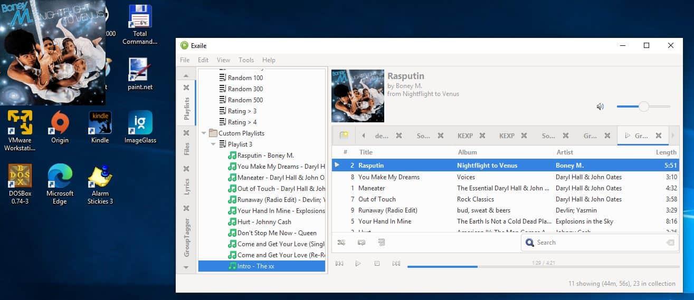 Exaile desktop widget