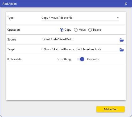 RoboIntern example task copy file