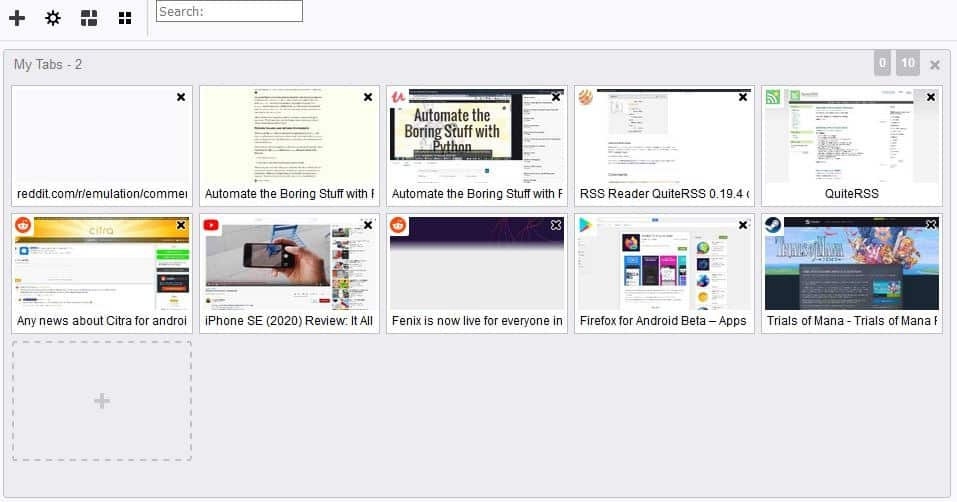 View thumbnails of your tabs and organize them with Panorama Tab Groups for Firefox