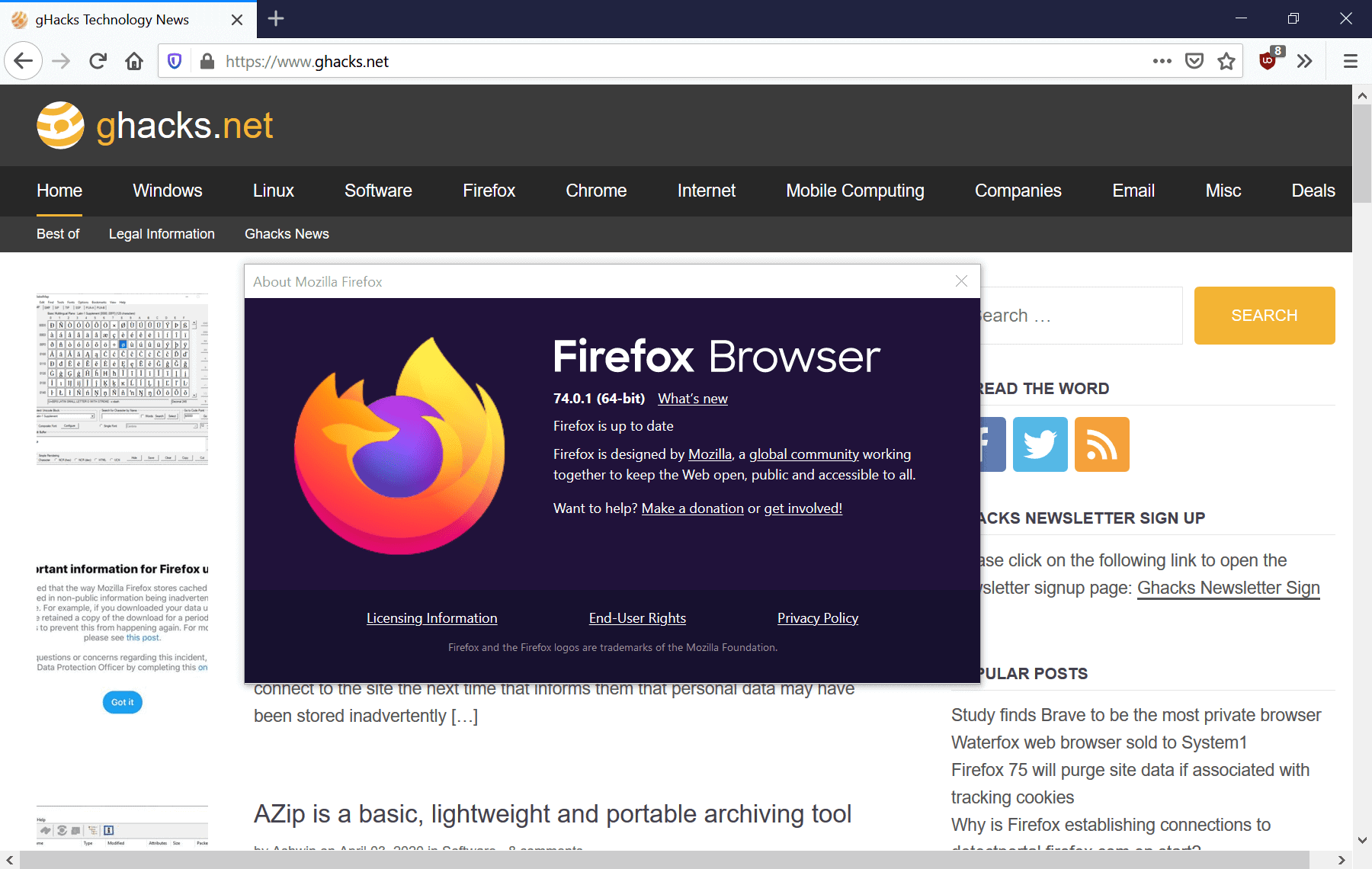 Firefox 74.0.1 Stable out with important security fixes