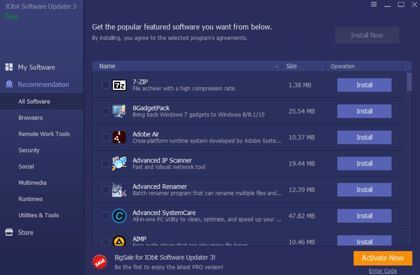 iobit software updater recommendations
