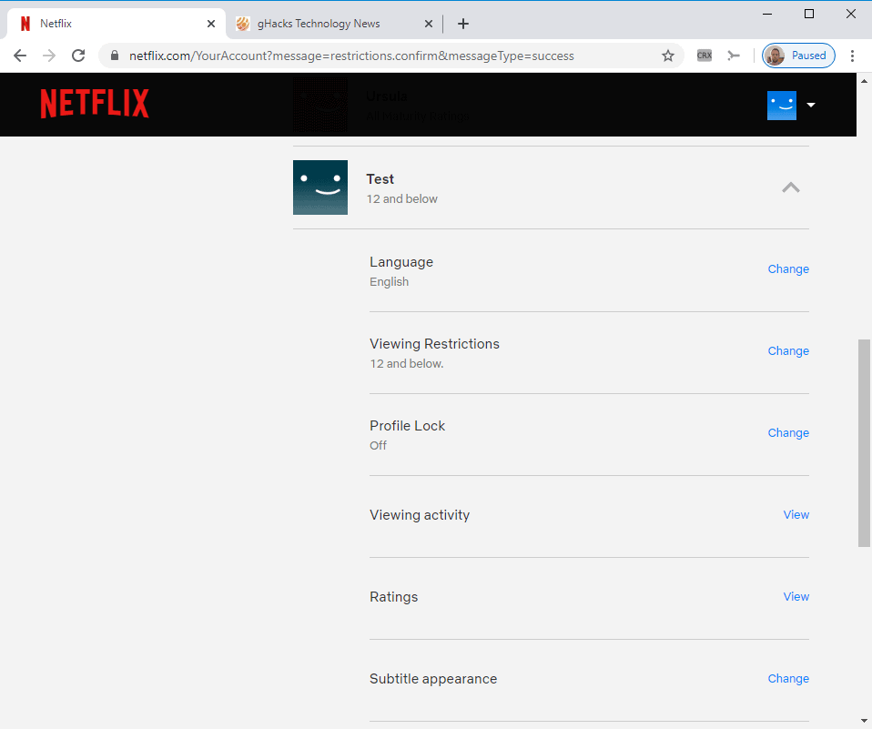 You can now Pin protect Netflix profiles