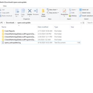 opera autoupdate folder