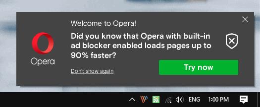 opera promotional notification