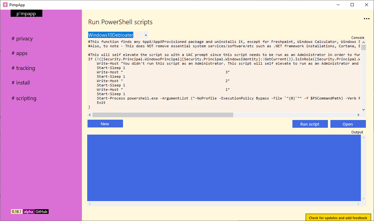 windows 10 privacy scripts