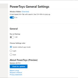 windows powertoys auto-update