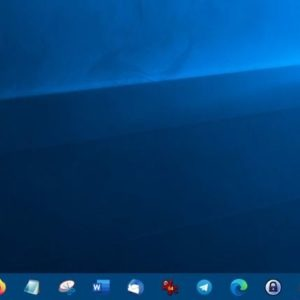 CenterTaskbar is an open source, portable program that dynamically positions icons in the center of the taskbar