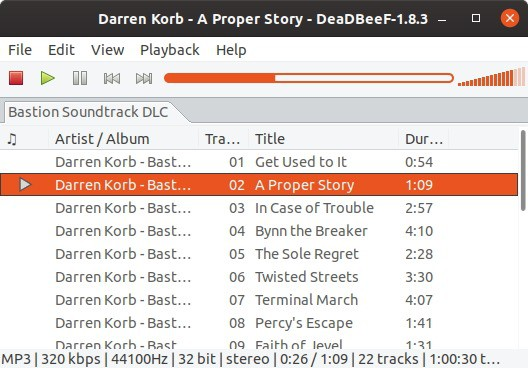 DeaDBeeF is an open source music player for Linux