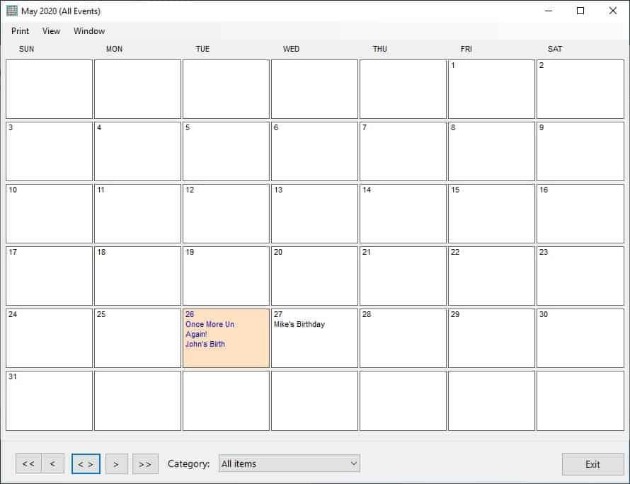Remind Me Please calendar