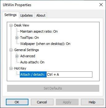 Ultwin settings