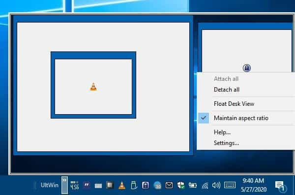 Ultwin window menu