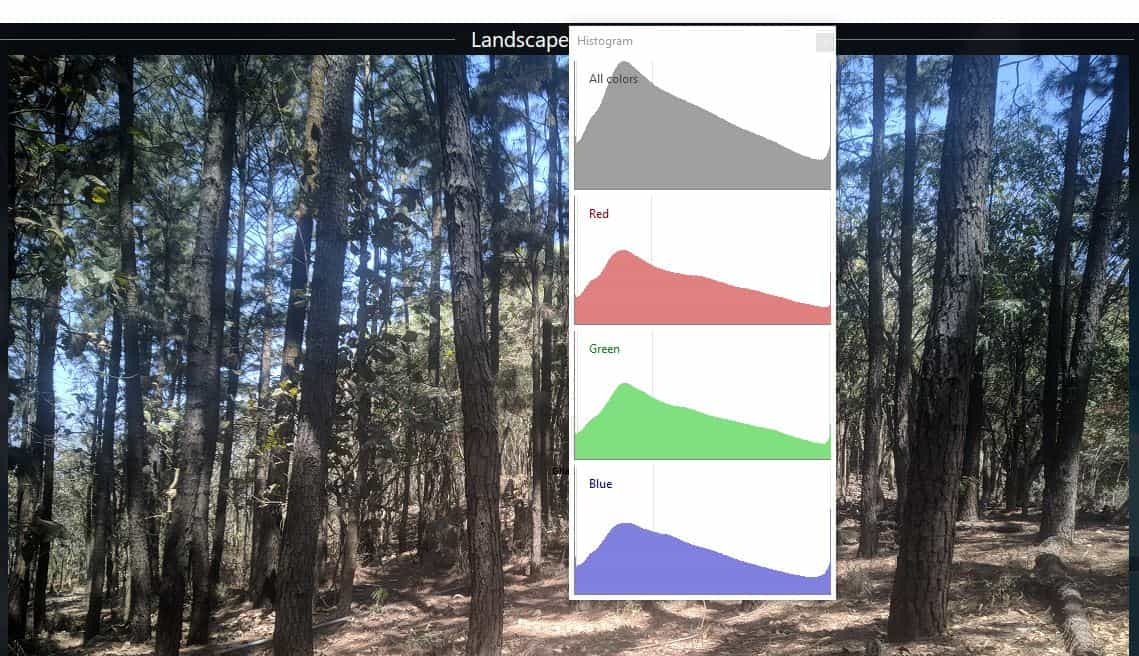 XlideIt Image Viewer - histogram