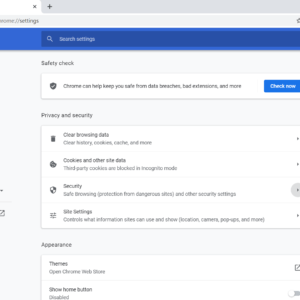 chrome 83 privacy settings