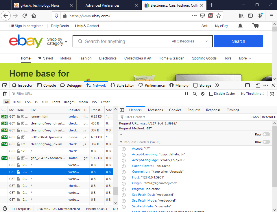 ebay firefox port scan