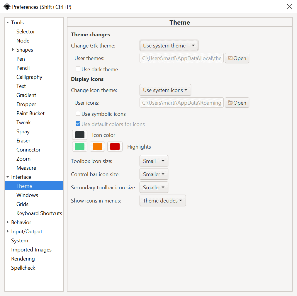 inkscape 1.0 preferences