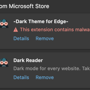 microsoft store-extension contains malware