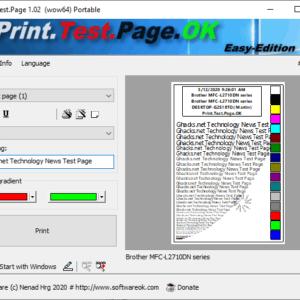 print test page windows