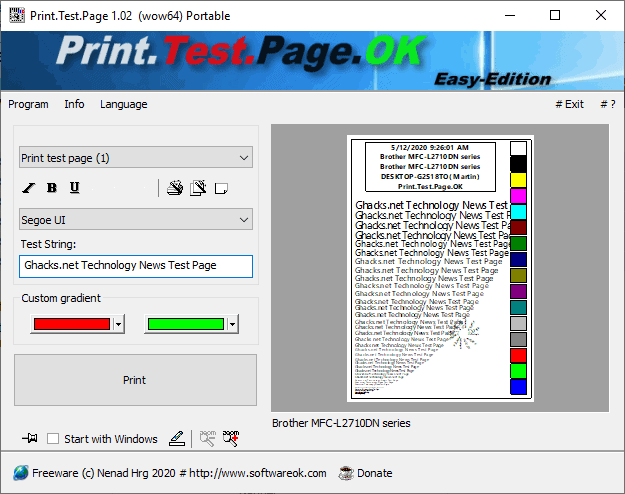 Printers (old): Print on (own) Windows 10   Manuals   948x1200