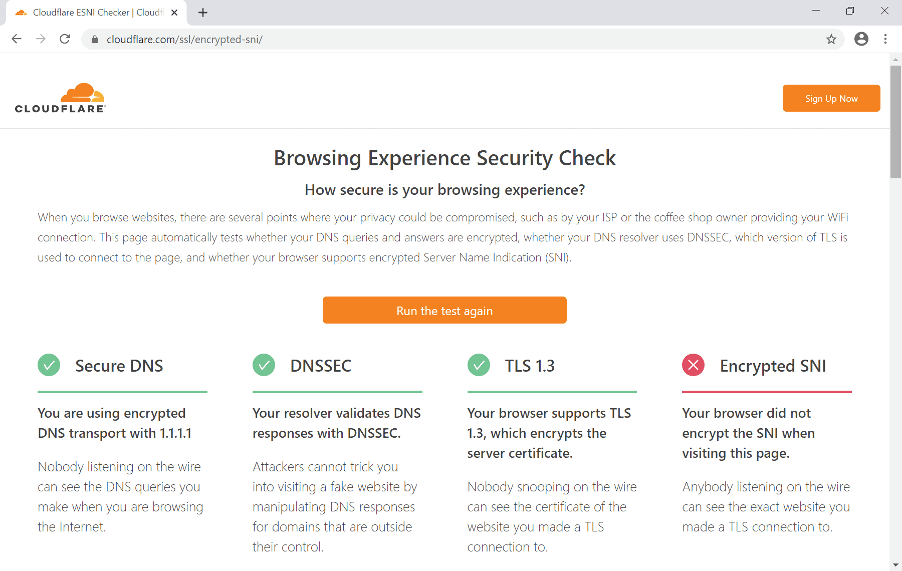 secure dns test