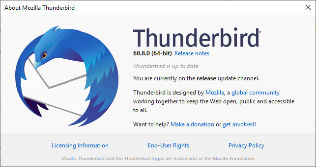 Thunderbird 68.8.0 is out with bug and security fixes