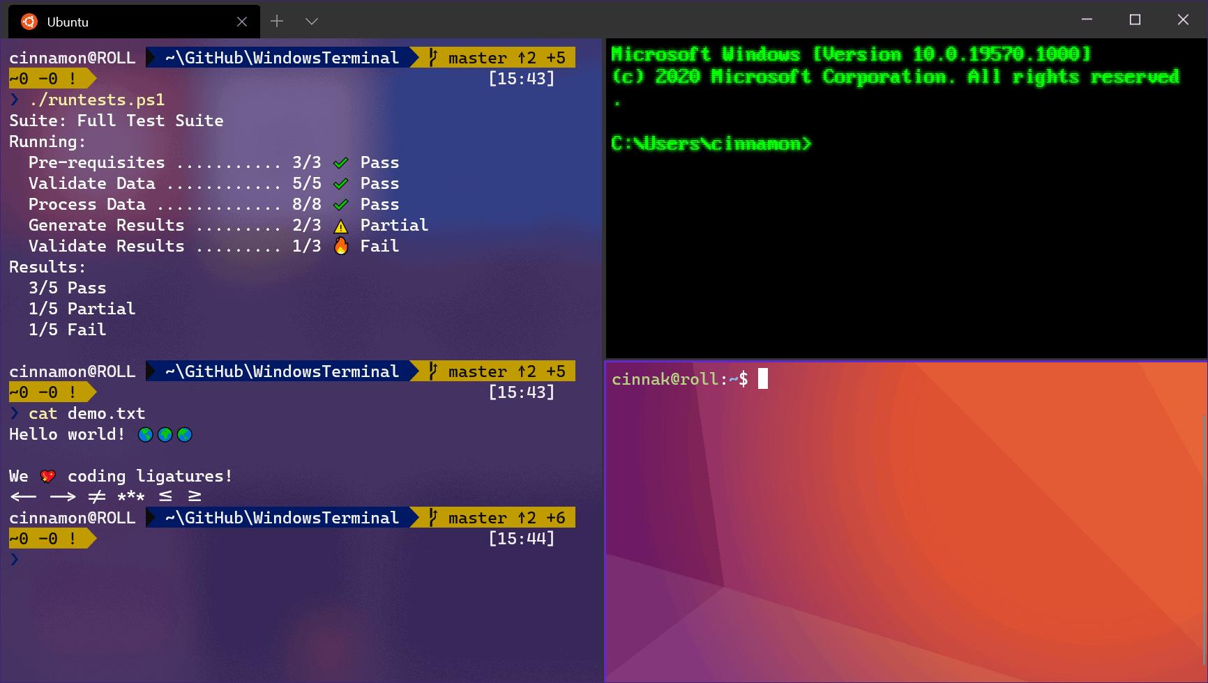 windows terminal tabs