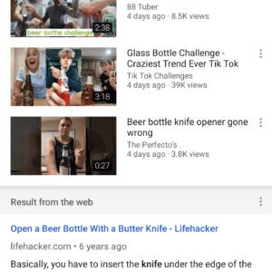youtube app google search
