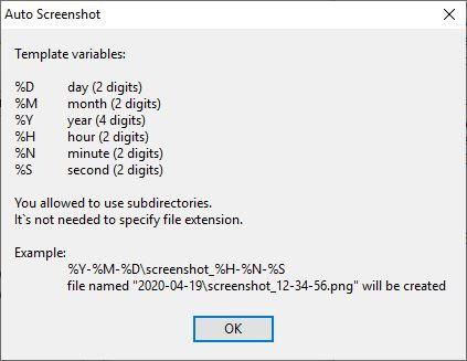 AutoScreenshot naming pattern