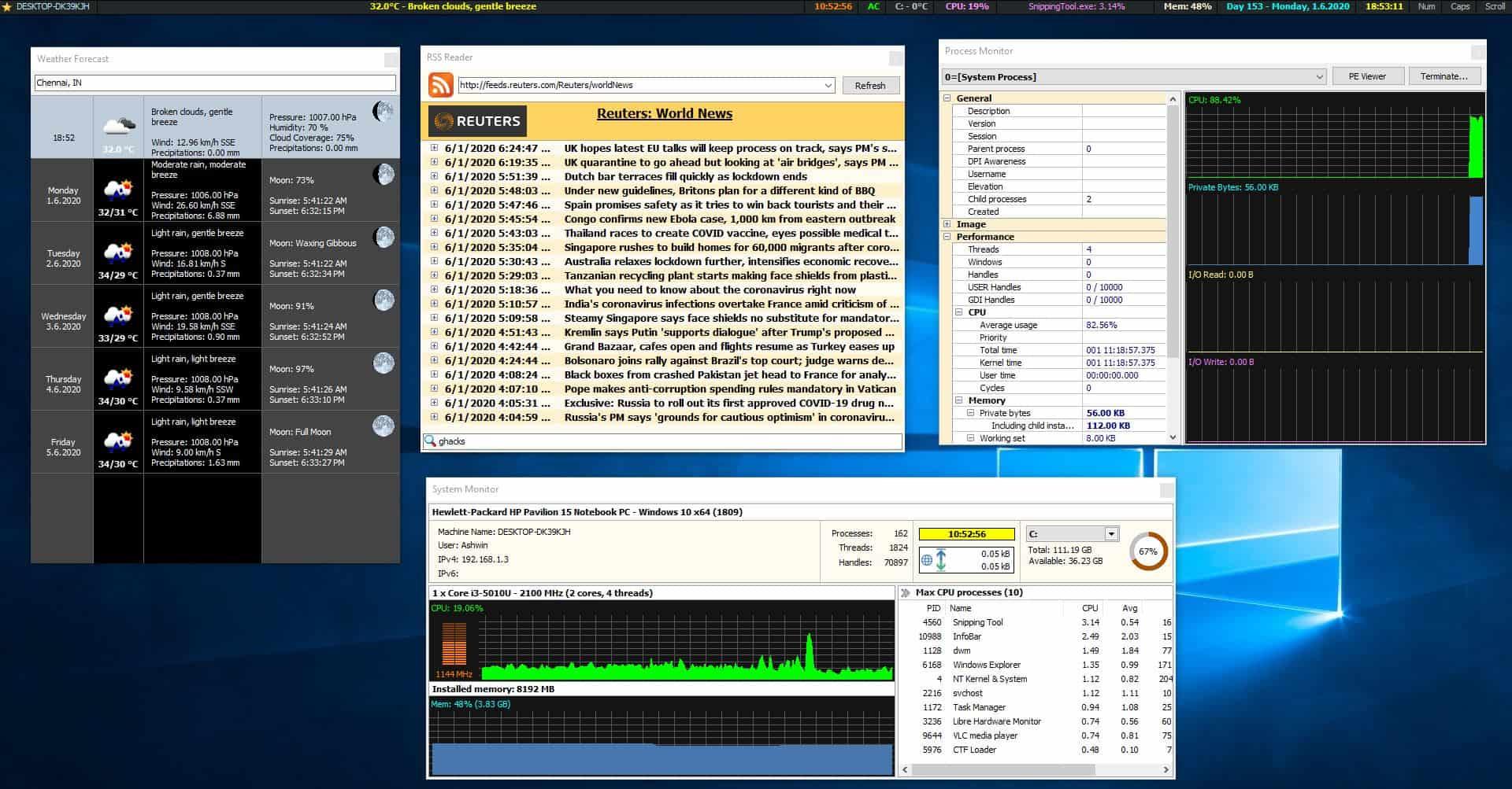 MiTec InfoBar tools 2