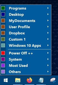 Start Everywhere is a Start Menu replacement that has an optional floating icon
