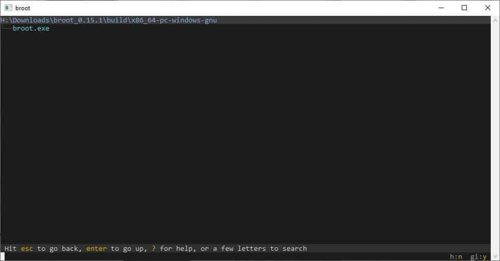 broot is a command-line file manager for Windows, Linux and macOS