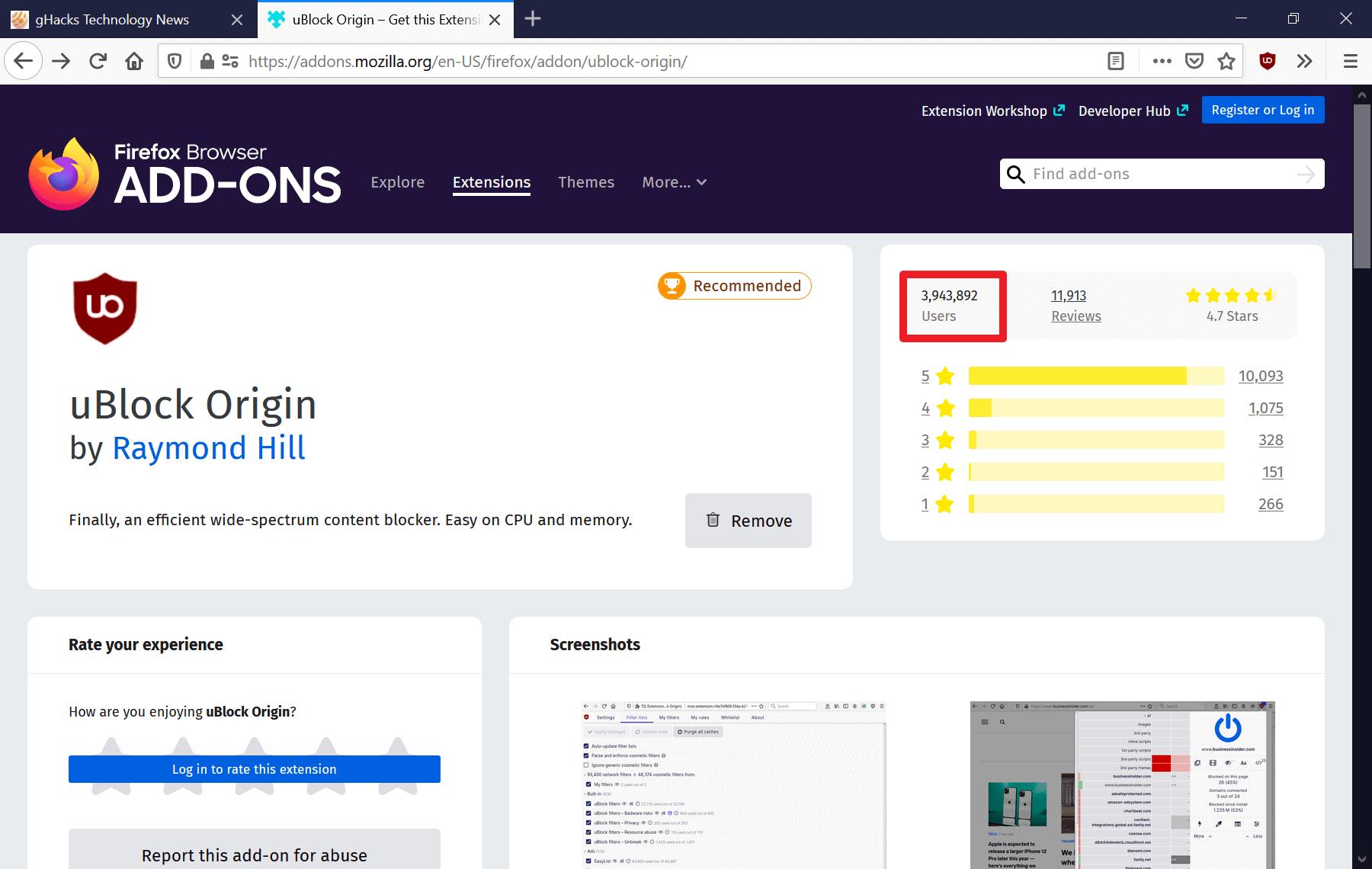 firefox add-ons users