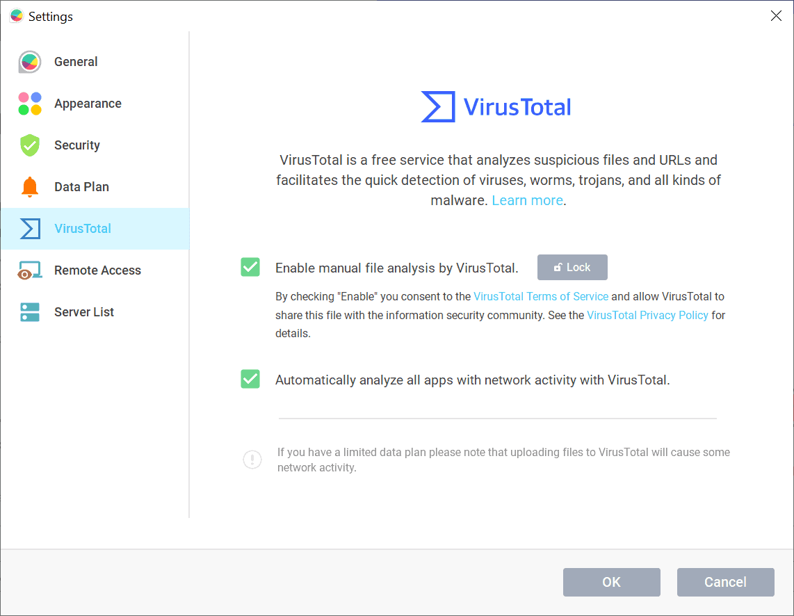 glasswire virustotal