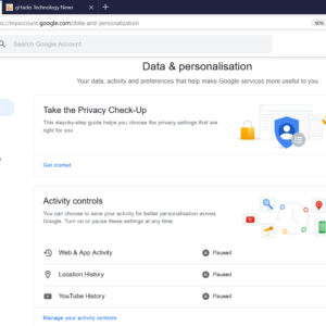 google privacy delete activity