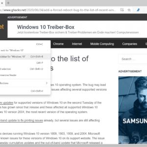 microsoft edge search in- idebar
