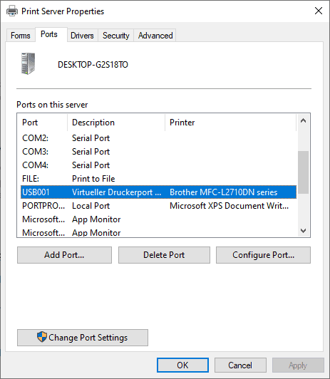 usb printer missing windows 10