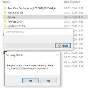 DeleteOnClick is a freeware secure file deletion tool for Windows