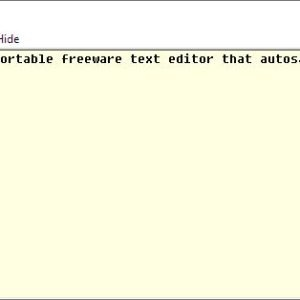 HandyPad is a freeware text editor that supports autosave as you type