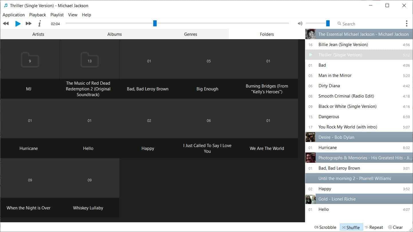Musique folder view