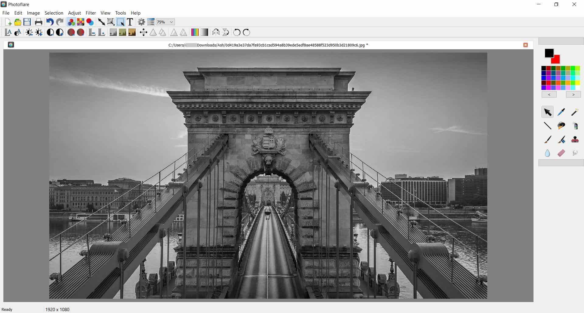 Photoflare gray scale